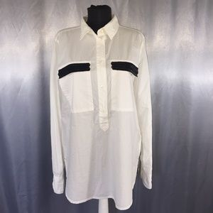 J. Crew womens beaded pocket button down blouse